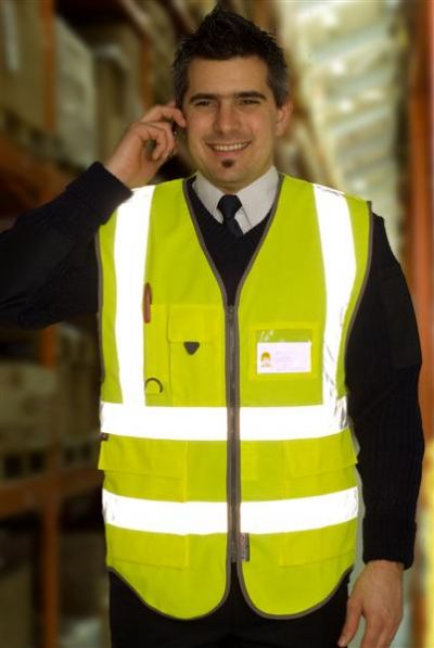 HI VIZ WAISTCOAT - SUPERIOR QUALITY - TM CHEMICALS